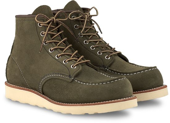 "Red Wing Heritage - 8857 Moc Toe 6"" Boot Loden Abilene Leather"