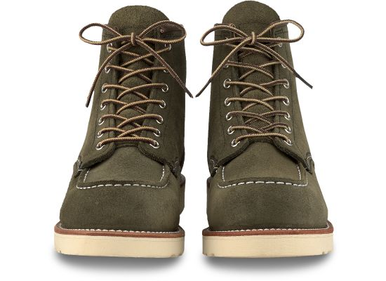 "Red Wing Heritage - 8857 Moc Toe 6"" Boot Loden Abilene Leather - Foundry Mens Goods"