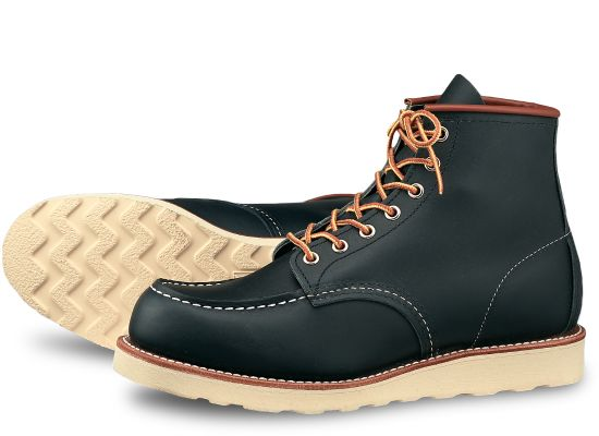 "Red Wing Heritage - 8859 Moc Toe 6"" Boot Navy Portage Leather"