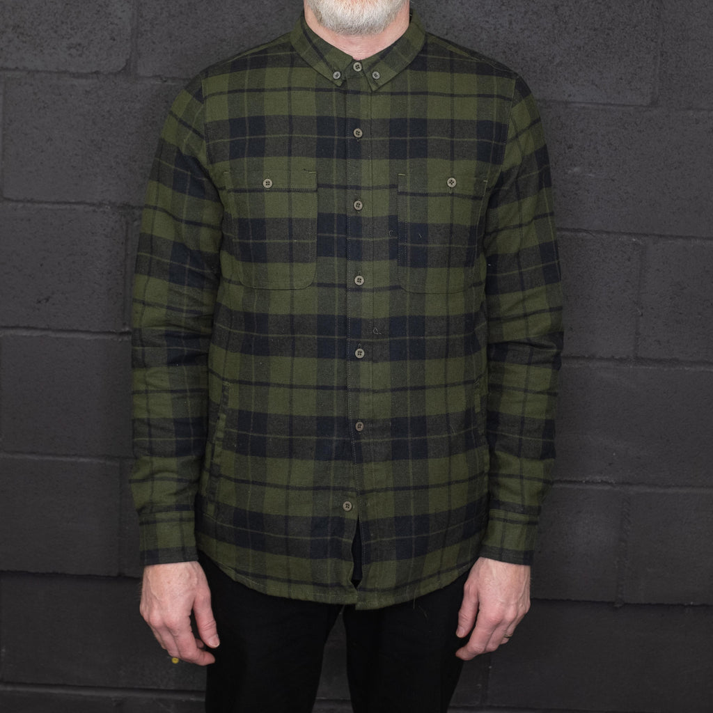 Banks Journal - Momentum Shirt Long Sleeve Olive Green Plaid - Foundry Mens Goods