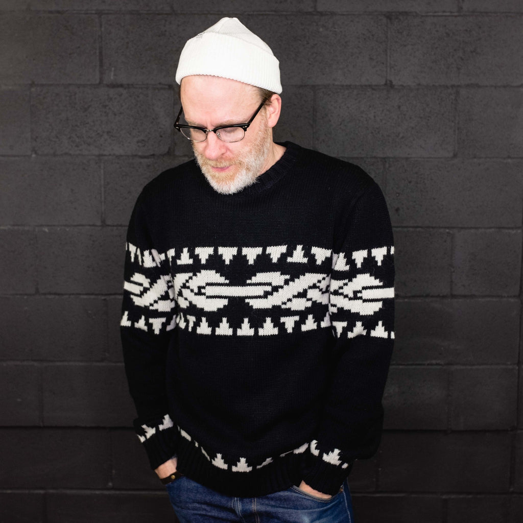Carhartt WIP - Marbud Sweater Black Wax - Foundry Mens Goods