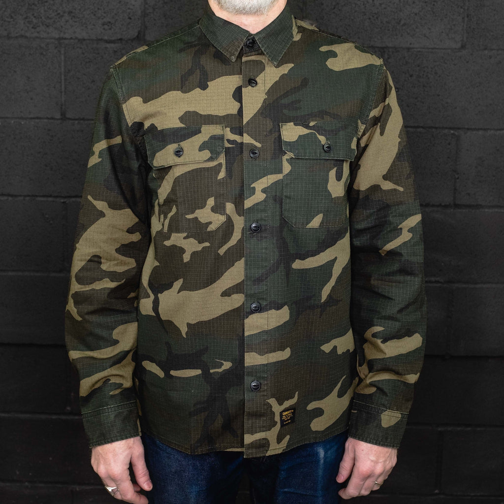 Carhartt WIP - Mission Shirt Long Sleeve Camo - Foundry Mens Goods