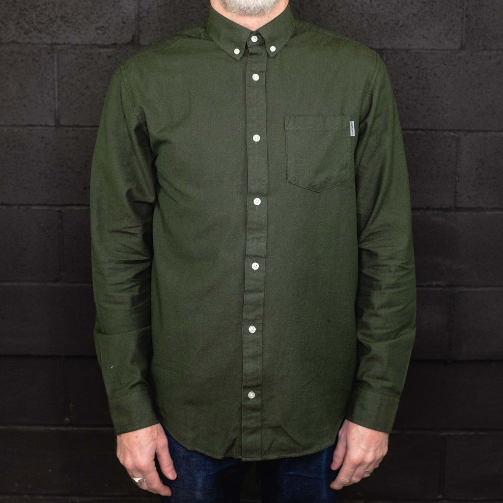 Carhartt WIP - Dalton Shirt Long Sleeve Loden - Foundry Mens Goods