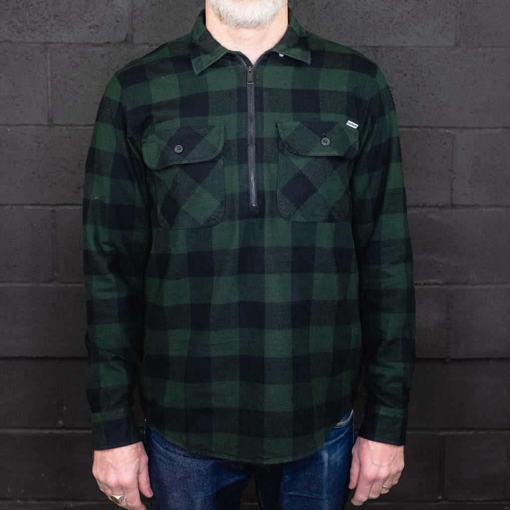 Carhartt WIP - Francis Shirt Long Sleeve Flannel Green - Foundry Mens Goods