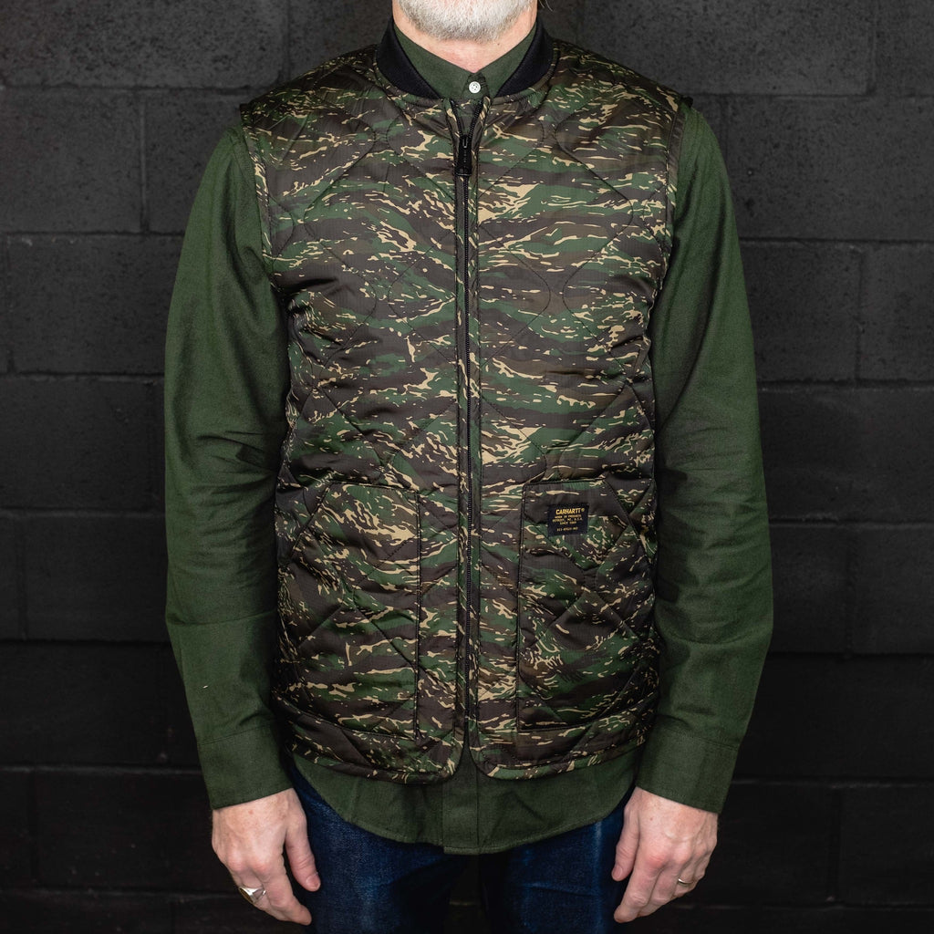 Carhartt WIP - Newton Vest Liner Jungle Tiger Camo - Foundry Mens Goods