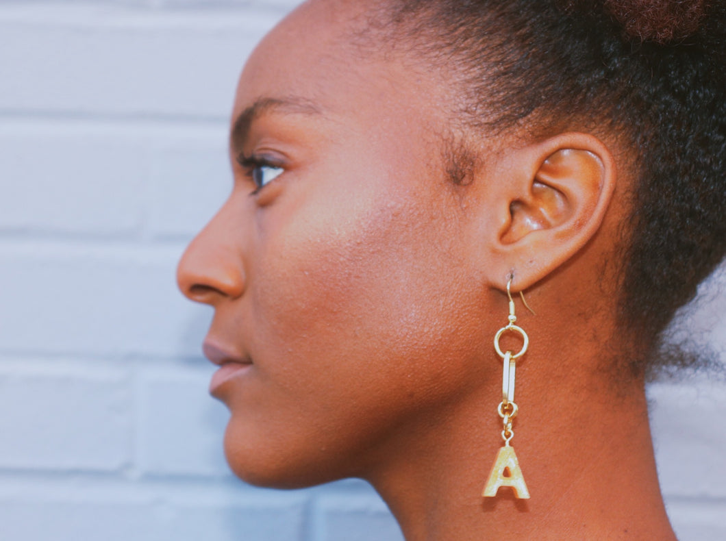 Alphabet Earrings (ALL LETTERS INCLUDED)