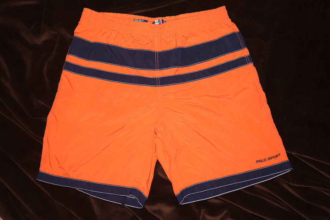 ORANGE POLO SPORT TRUNKS