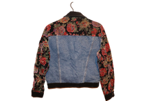 FLORAL PRINT DENIM JACKET