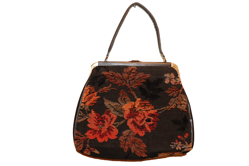 EMBROIDERED FLORAL BAG