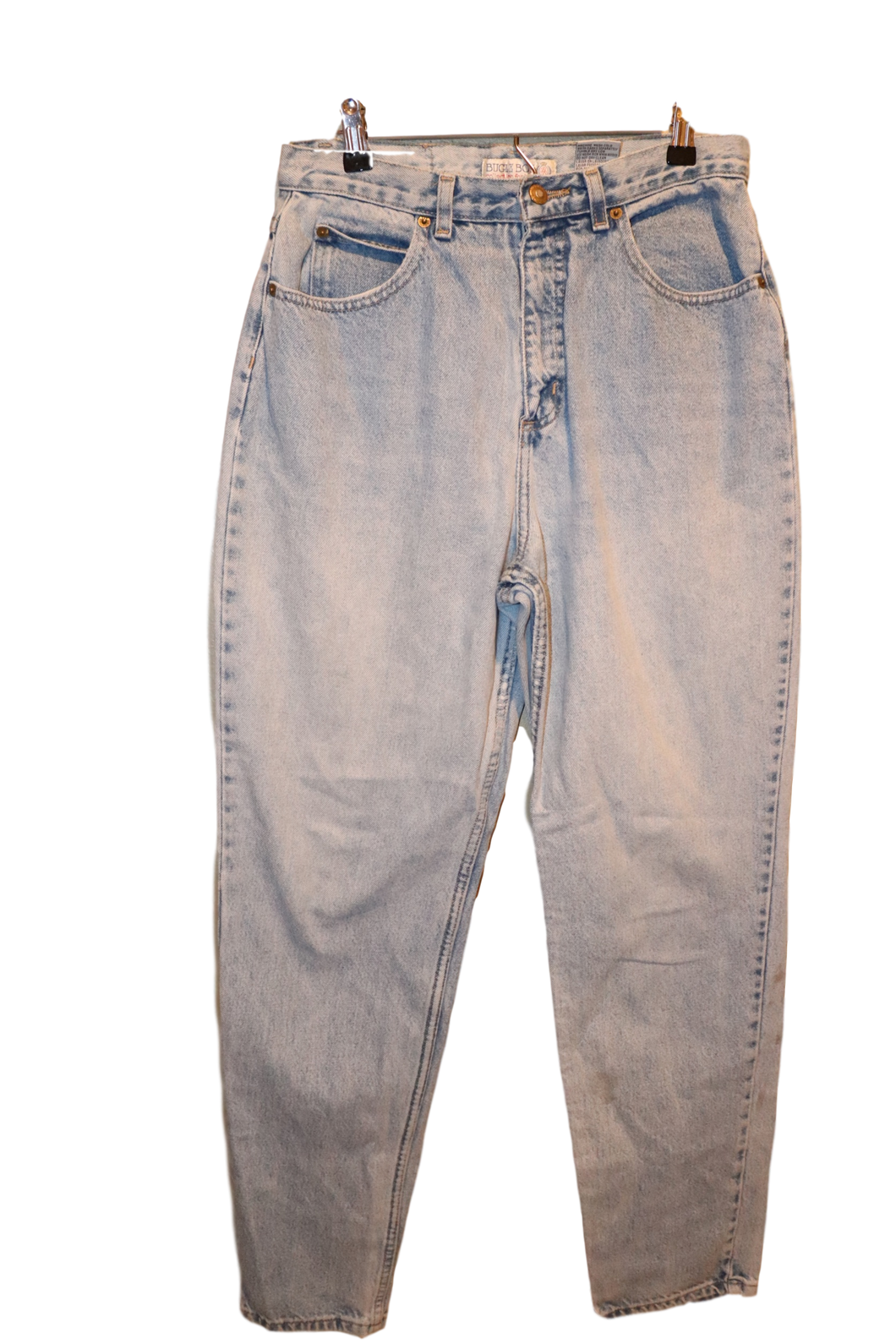 LIGHT WASH LONG LENGTH JEANS