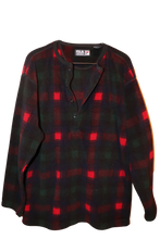 RED/NAVY CHECKERED FLEECE