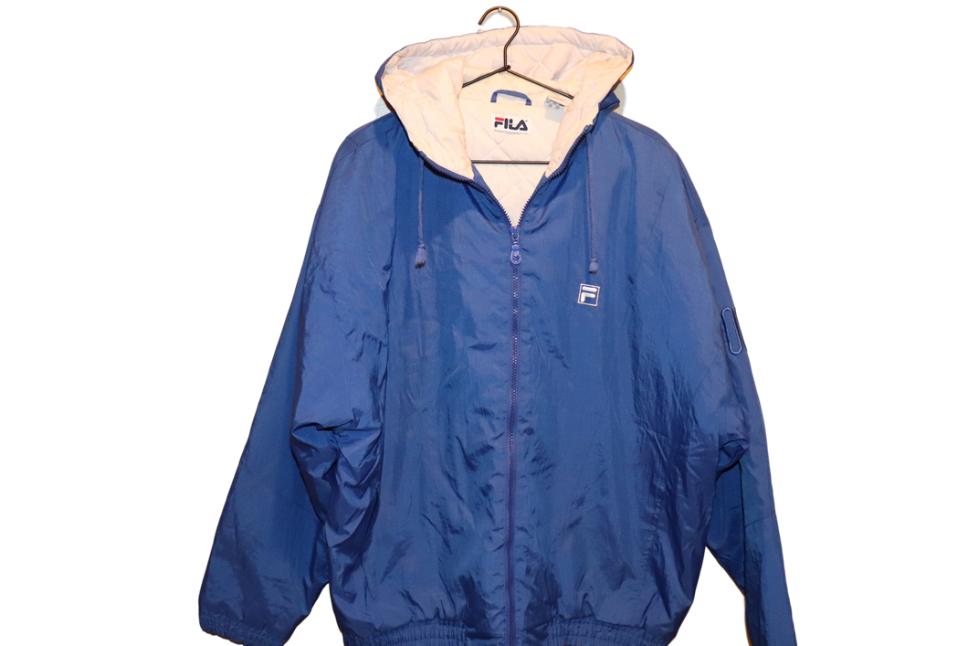 COBALT BLUE FILA JACKET