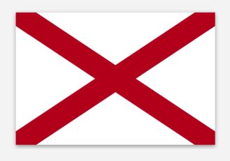 Alabama State Flag Sticker