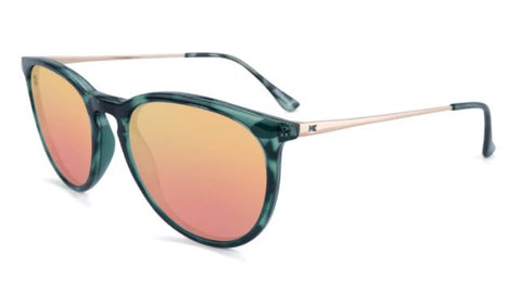 Knockaround Mary Janes Polarized Slate Tortoise Shell/Rose Gold