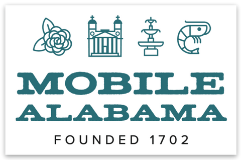Founded in 1702 Mobile, Alabama Sticker