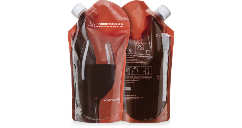PLATYPRESERVE™ PORTABLE WINE STORAGE BOTTLE 800ML