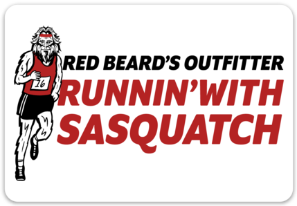 Runnin' With Sasquatch Sticker