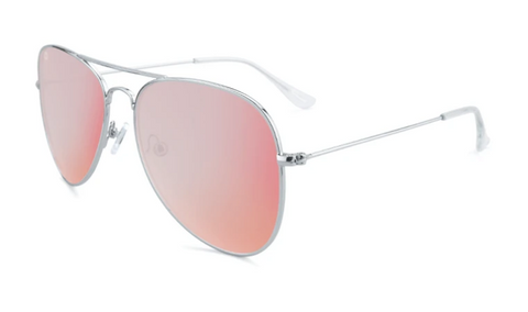Knockaround Mile Highs Polarized Silver/Rose