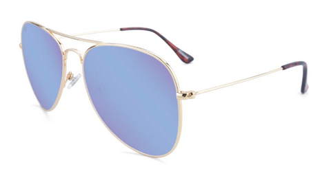Knockaround Mile Highs Polarized Gold/Snow Opal