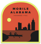 Mobile Alabama Skyline Sticker