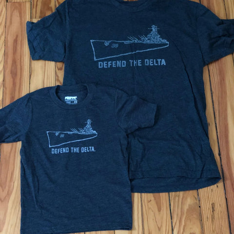 Mobtown Defend the Delta Youth Tee