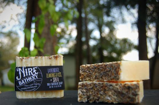 Nire Bathery Lavender Lemongrass and Shea Soap