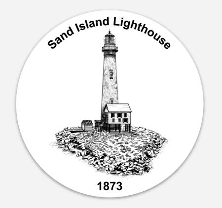 Sand Island Lighthouse Sticker