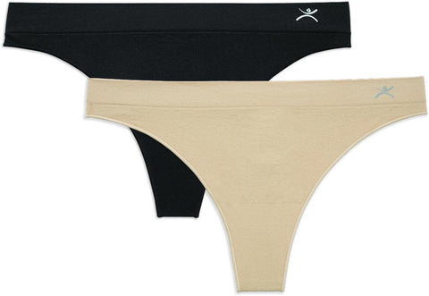 Terramar Seamless Thong Underwear 2-Pack Women's