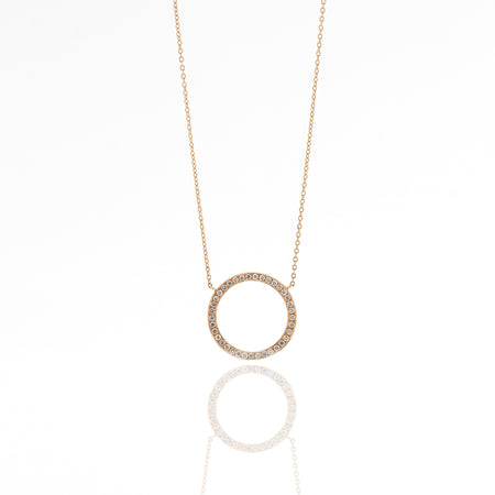 Alexa Diamond Halo Necklace