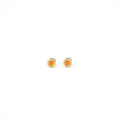Alexandra Enamel and Diamond Earrings