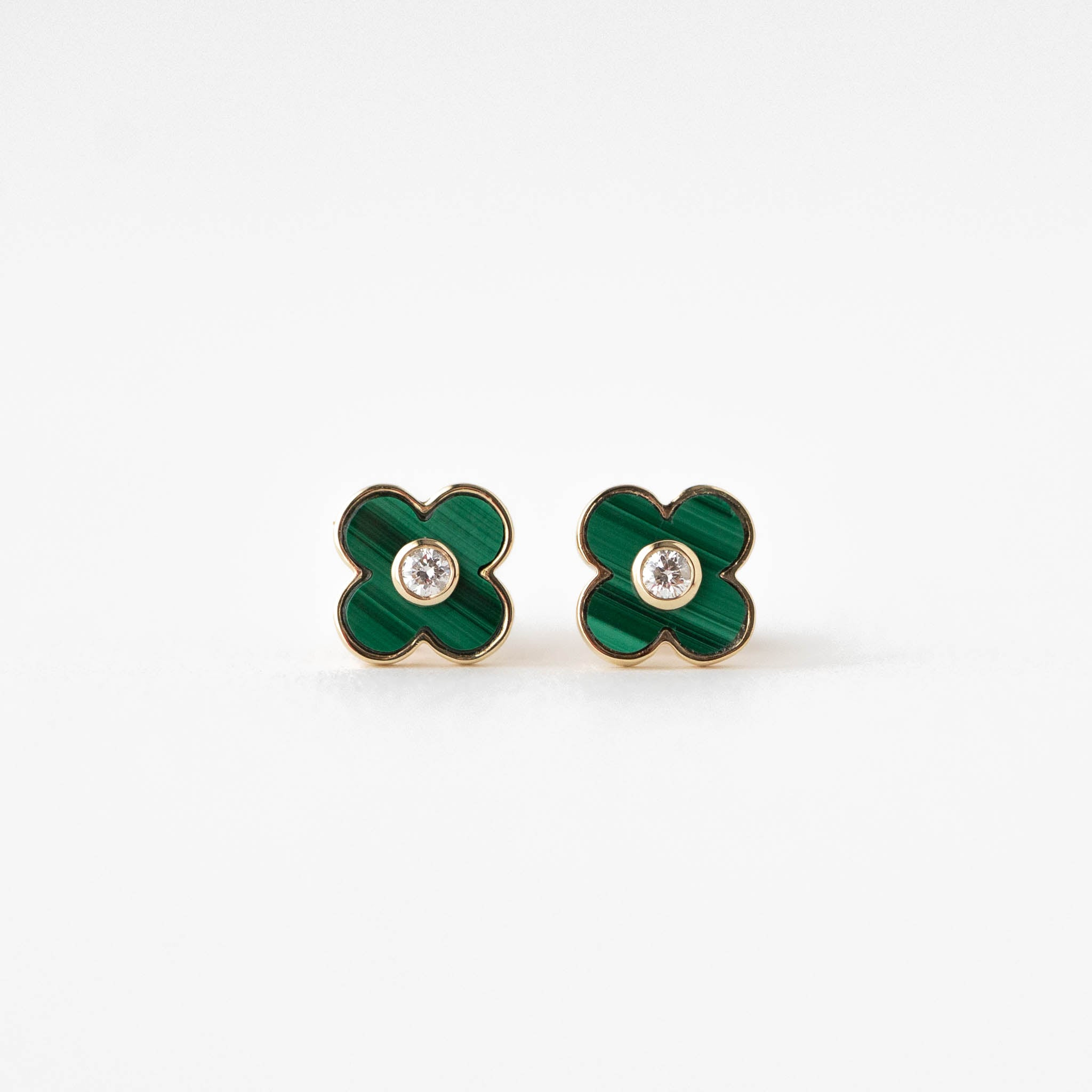Alice Malachite Clover Earrings