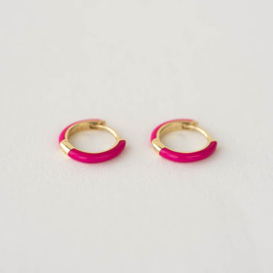 Quinn Enamel Huggie Earrings