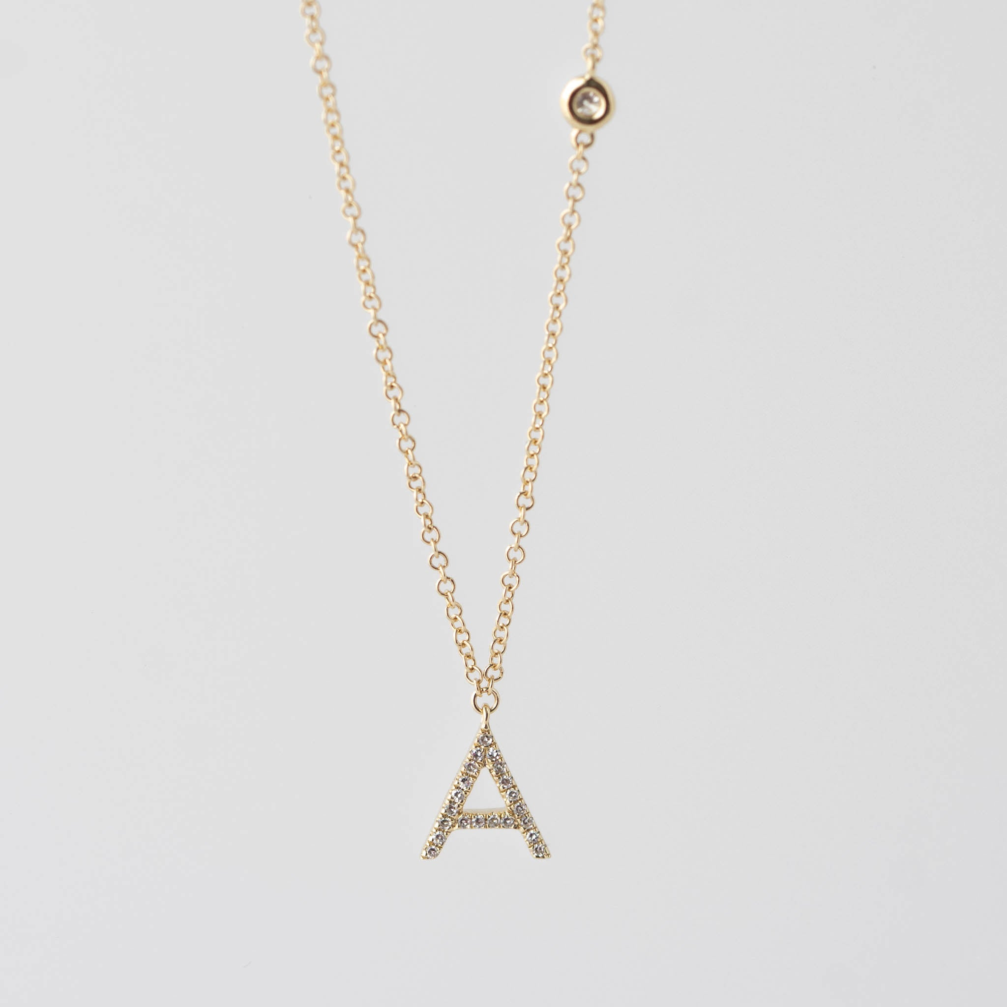 Alyssa Initial Diamond Necklace