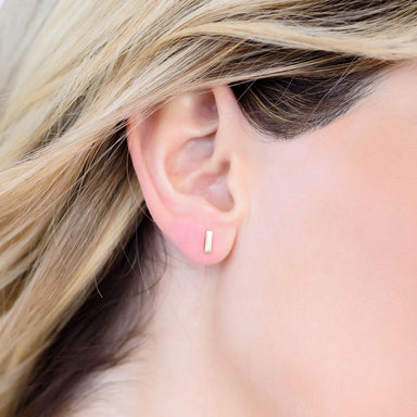 Piper Minimalist Bar Earrings