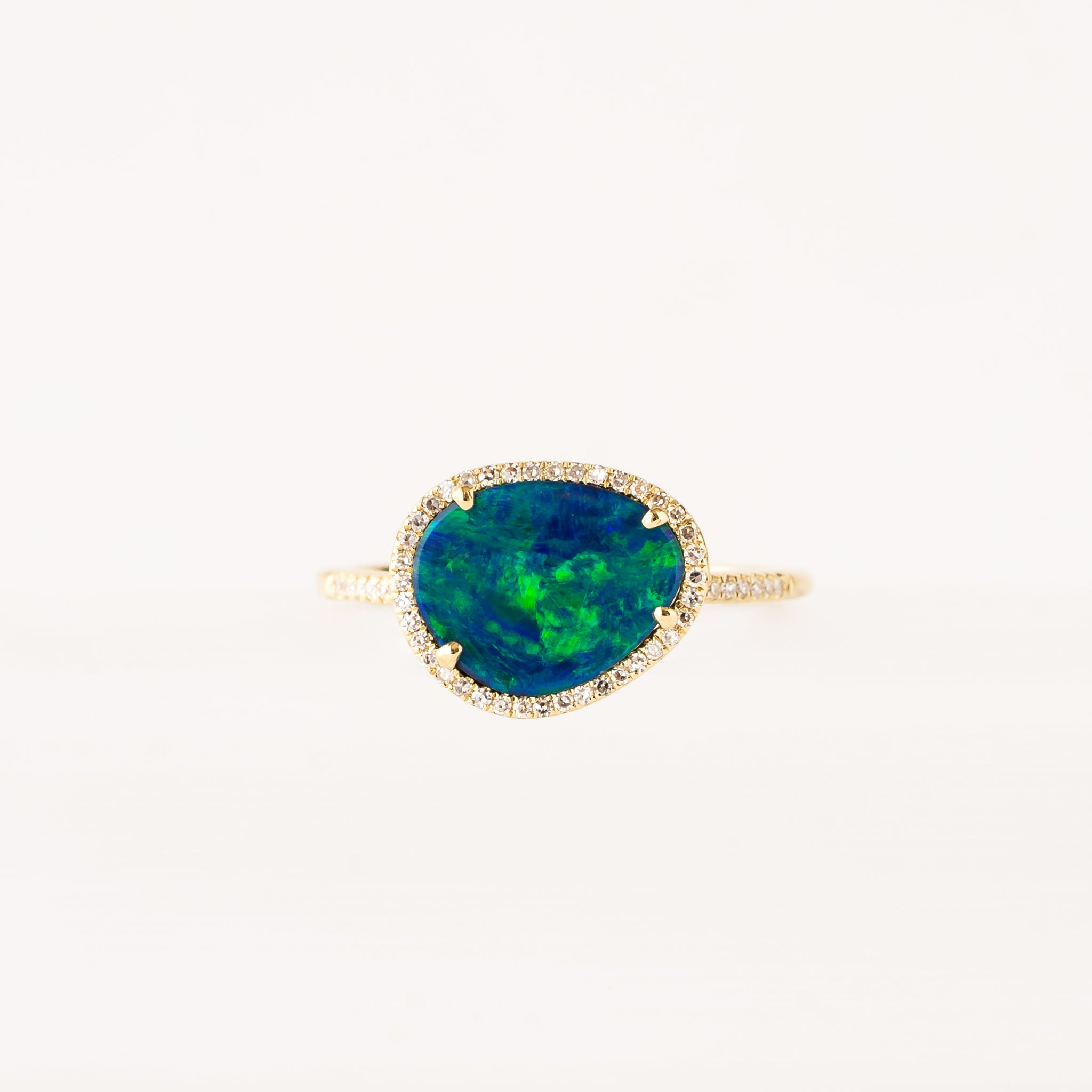 Claire Opal Diamond Ring