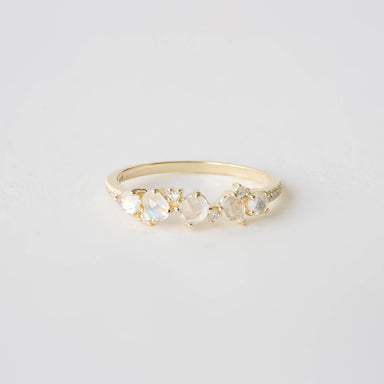 Clara Moonstone and Diamond Ring