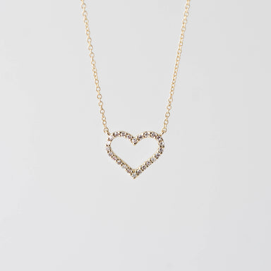 Faith Diamond Heart Necklace