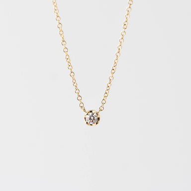 Julia Diamond Solitare Necklace