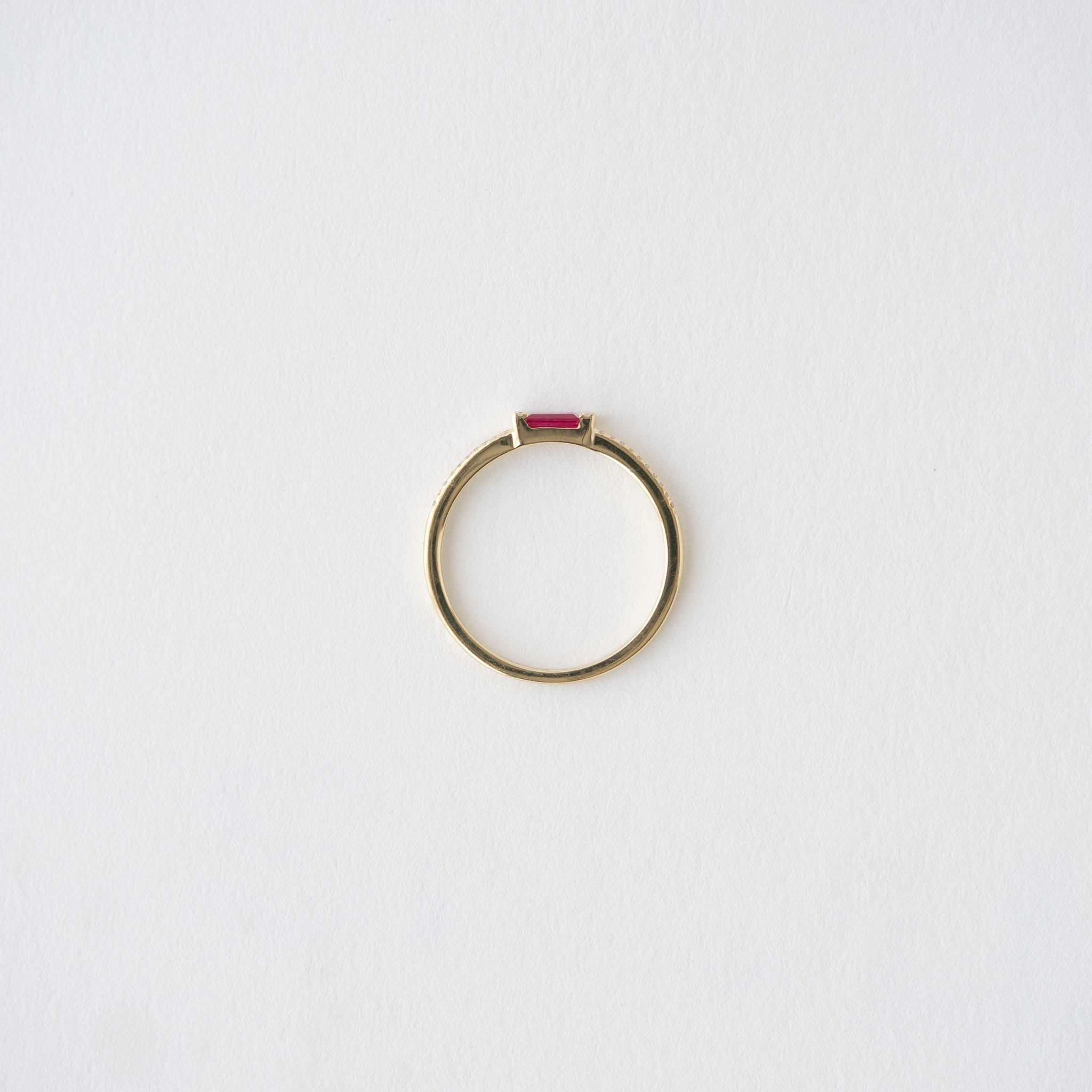 Katherine Ruby Diamond Ring in Rose Gold
