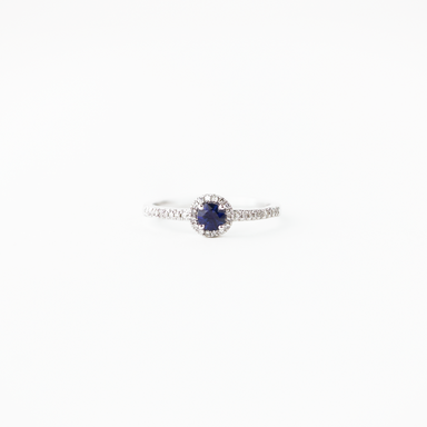 Kimberly Blue Sapphire and Diamond Ring