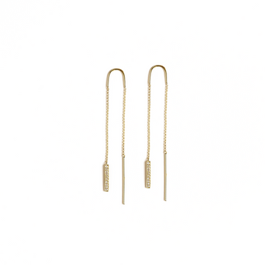Mila Dangling Bar Chain Earrings