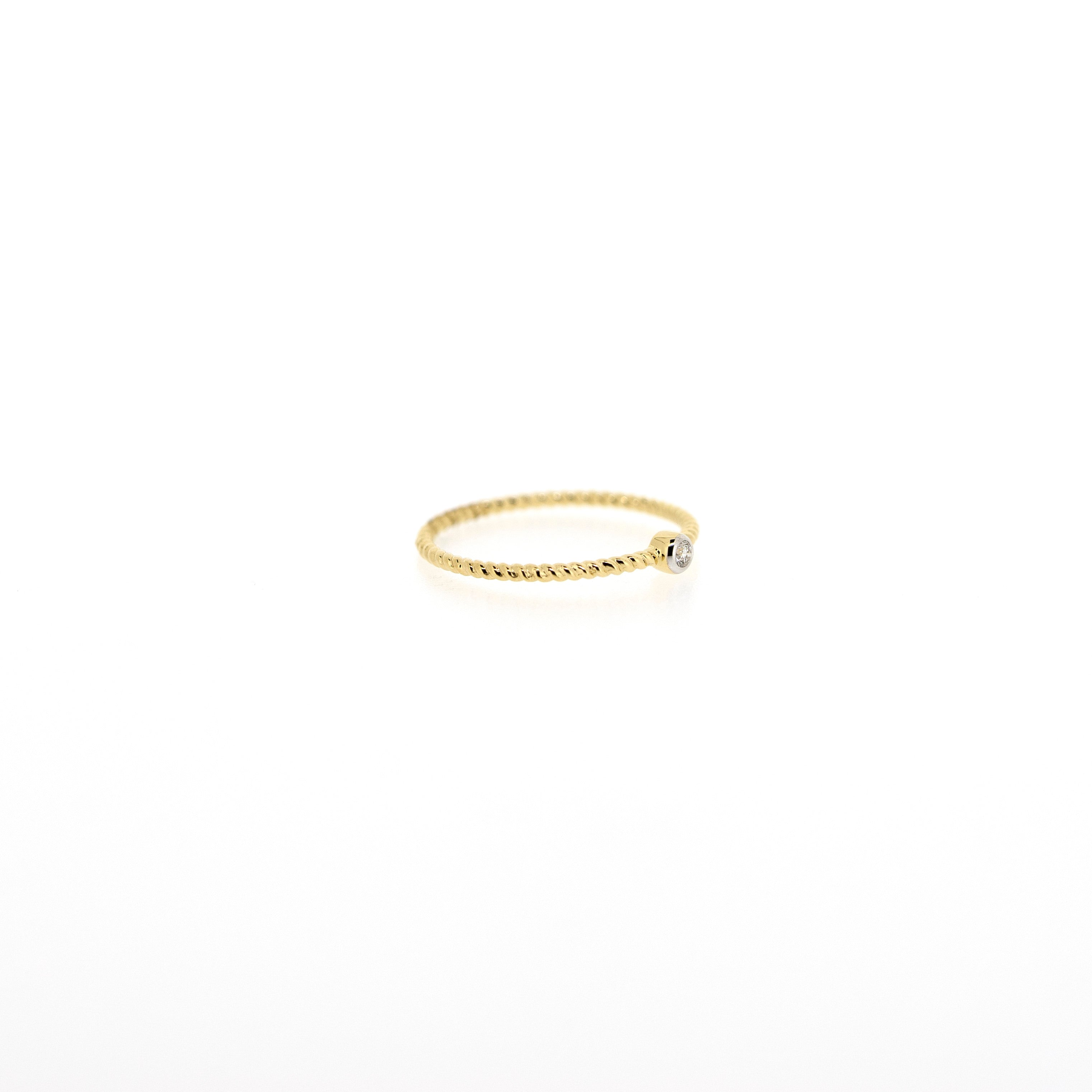 Penelope Braided Diamond Solitaire Ring