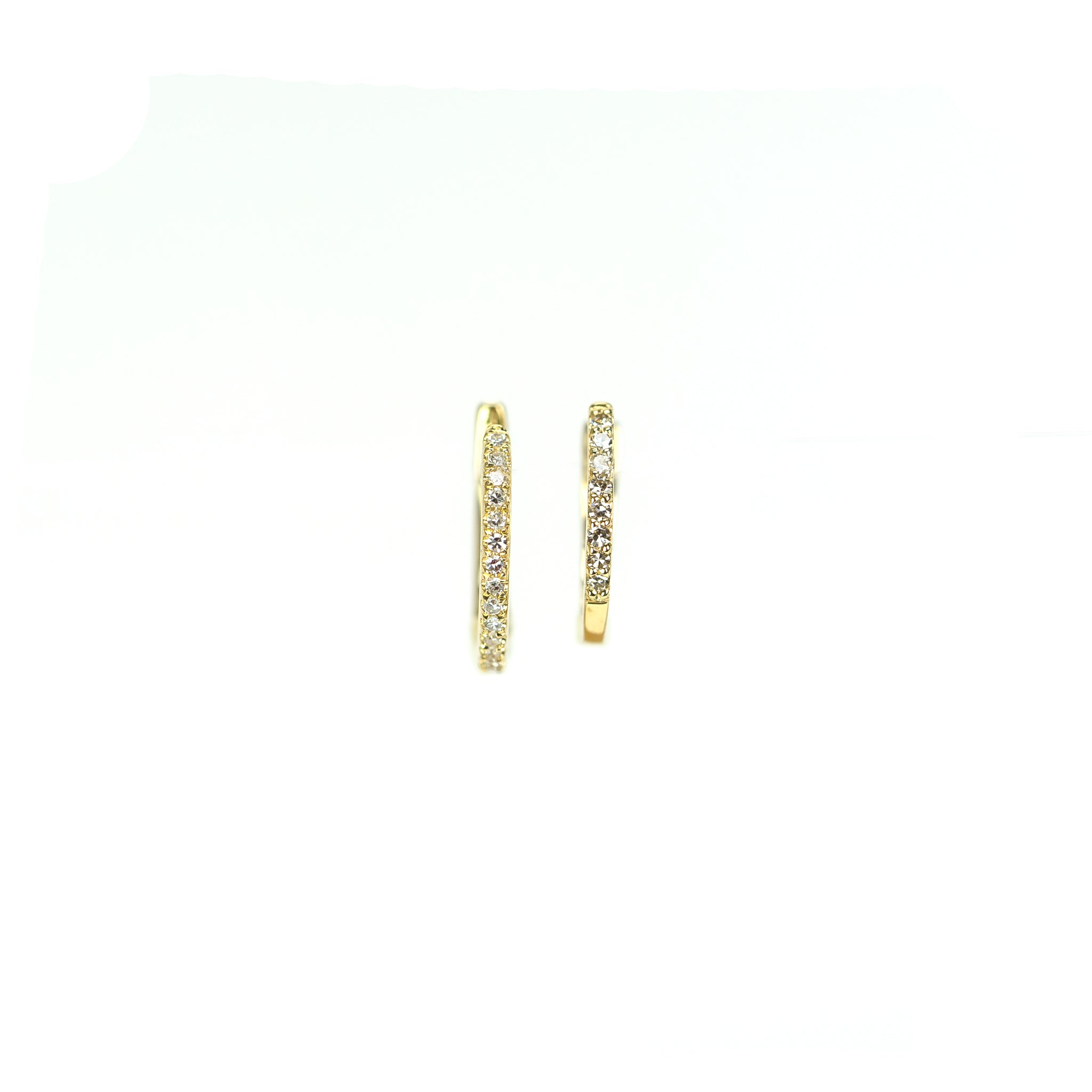 Petitie Diamond Huggie Earrings