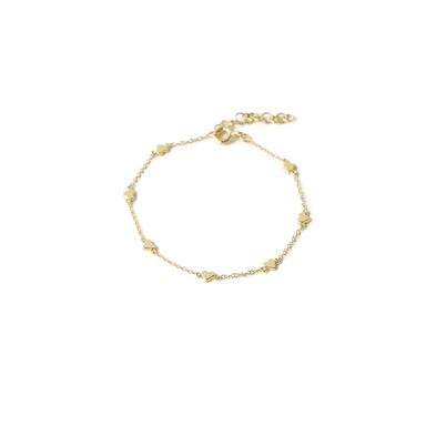 Reagan Gold Heart Bracelet