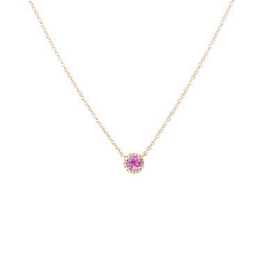 Sophie Pink Sapphire Diamond Necklace