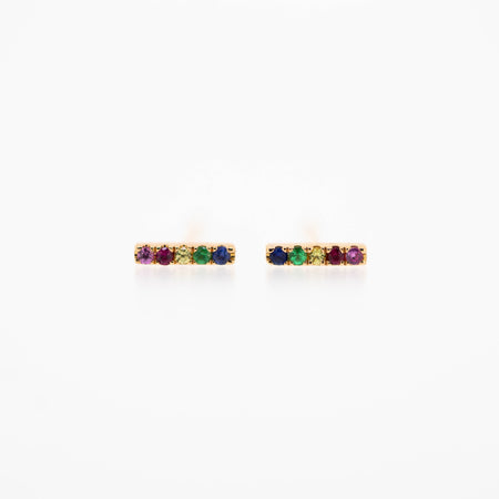 Stella Rainbow Bar Earrings