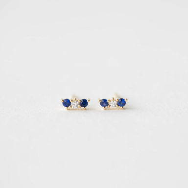 Vivian Blue Sapphire and Diamond Earrings