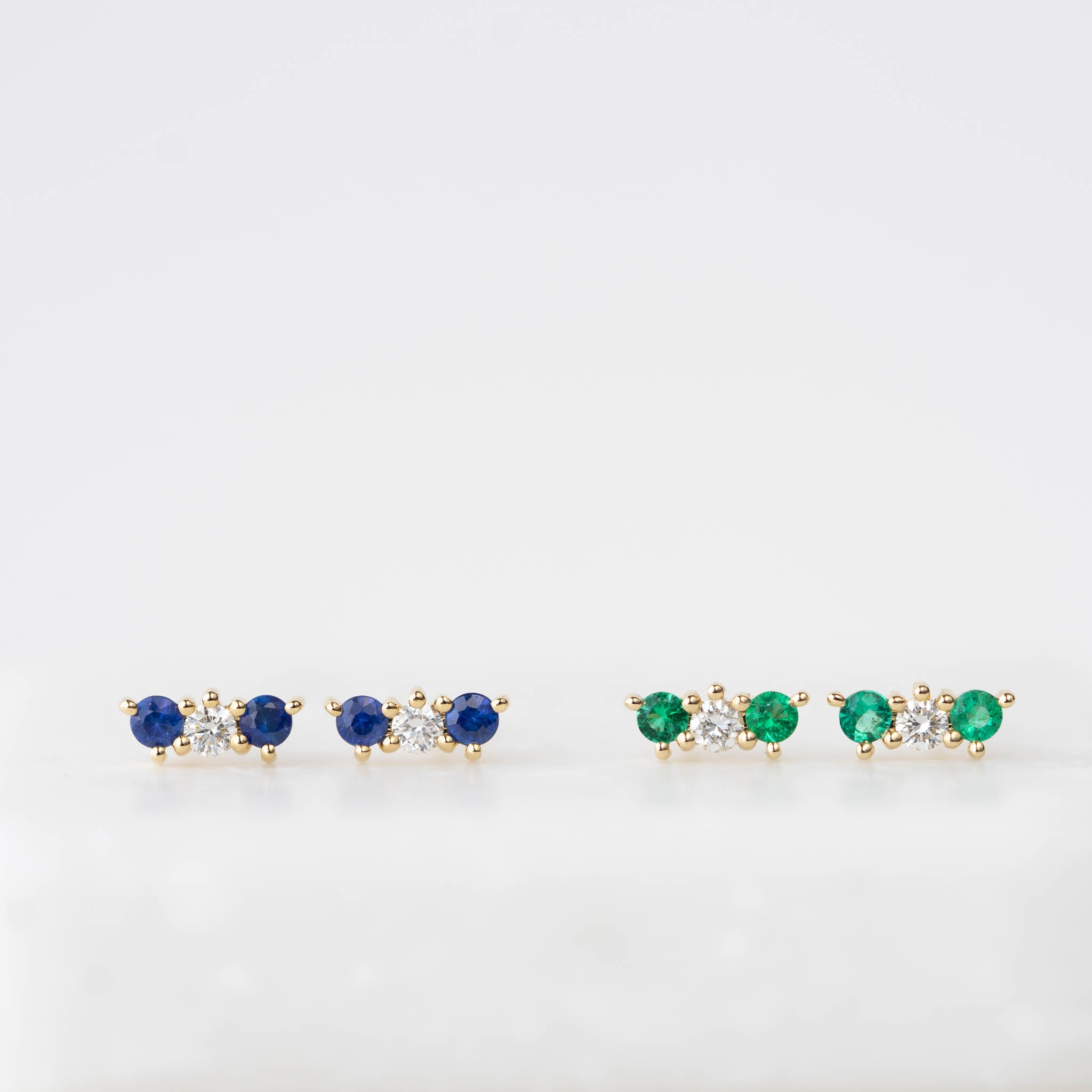Vivian Emerald and Diamond Earrings