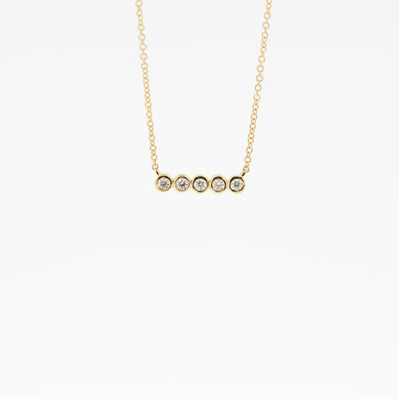 Aria Bezel Diamond Necklace
