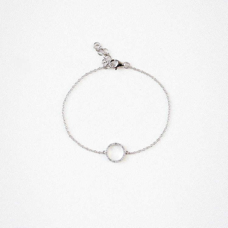 Diamond Halo Bracelet by Atheria Jewelry